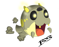 Spheal Ghost/ Electric Type (sphealite) by TheNornOnTheGo