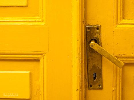 Yellow Old Door by Gil-Levy