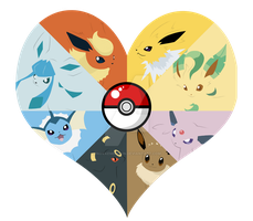 Eeveelutions Heart by NovaEmbersin