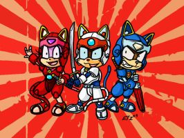 Samurai Pizza Cats by theEyZmaster
