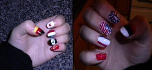 Hetalia Nails by israel-sakura