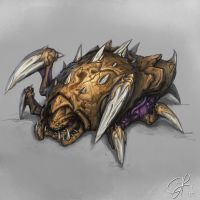 Starcraft 2 Roach by hammn