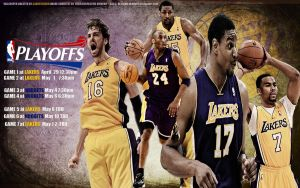 Lakers 2012 Playoffs Schedule by pllay1