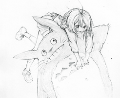 Pencil Sketch: Totoro by eumiii