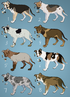 Mutts 4 (closed) by Pred-Adopts