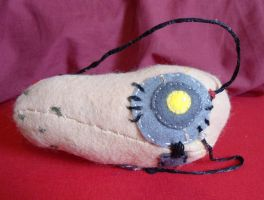Plushie Glados Potato by rocketjumpwaltz