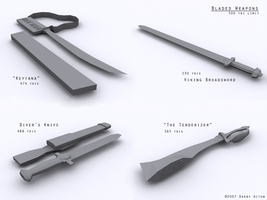 Bladed Weapons by phoenix-eulogy