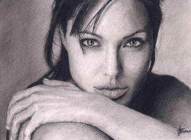 Angelina Jolie ( Realistic Pencil Drawing) by agothbr