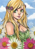 aceo - blossom by demon-rae