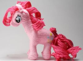 First Pinkie Pie - Knitted Plush by SparkAbsurd