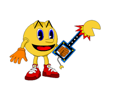 Pac-man as a Keyblade Wielder 2 by Gamekirby
