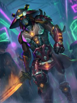 SMITE - Susano Cyber by ChrisBjors