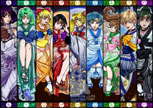 Sailor Moon scouts by sophira-moonlily
