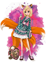 .:Ever After High: Comission Kitsune's child by Airinreika