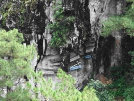 Sagada's Hanging Coffin by Madette