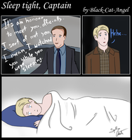 The Avengers comics - Sleep tight, Captain by Black-Cat-Angel
