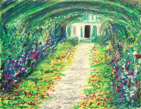 Monet's garden at Giverny by davepuls