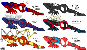 Spidey Suits by Keilythefox