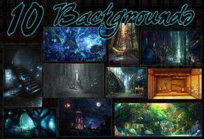 10 Backgrounds by n00b-toshi