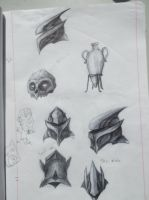 helmet sketches by LusitanianDavid
