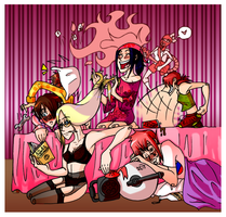 RED Slumber Party by M-u-n-c-h-y
