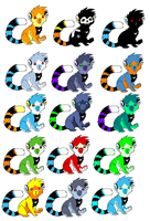 lemur colors by Ash-Dragon-wolf