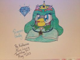 Angry Birds OCs: Princess Shelly the Black Bird by RussellMimeLover2009