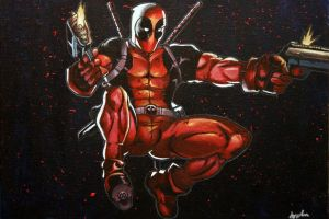 Deadpool Acrylic Painting by AngelicaCarlisle