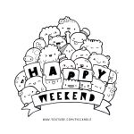 Doodle - Happy Weekend by PicCandle