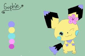 Sophie the Pichu  Ref. Sheet by P-Stew