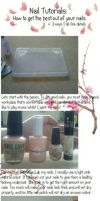Nail Tutorial: Cherry Blossom Tree by Iszy-chan