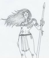 Celtic Warrior Chick by KidaGreenleaf