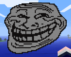 Minecraft Trollface by myvideogameworld