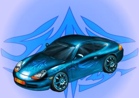Blue Dream Porsche by cryingsoul85