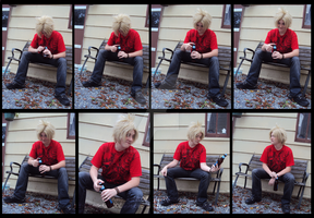 APH-Denmark Drinking on the Bench by Anime-Kat2002