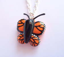 Monarch Butterfly Necklace by MariposaMiniatures