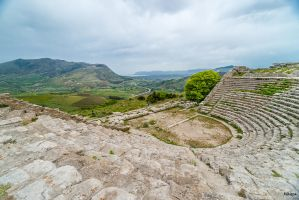 view from the Greek theatre by Rikitza