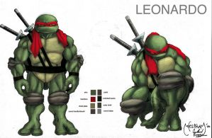TMNT character study-Leo by scribblesartist