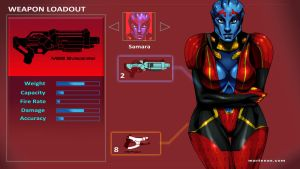 Mass-Effect (loadoutscreen) 2of3 Samara by martenas