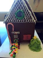 Ginger Bread House Front by skittysango