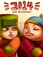 South Park: Happy 2014 by student-yuuto