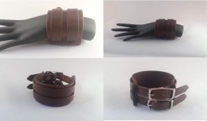 2 Strap Cuff (brown) by Vkarmoury