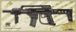 Empire BT4-G36 HK Paintball gun by wiledog