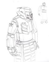 Red Army Infantry Powersuit by Imperator-Zor