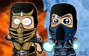 Scorpion and Sub-Zero MK vs DC by kapaeme