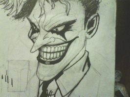 inked joker sketch by ThomasDrawsStuff