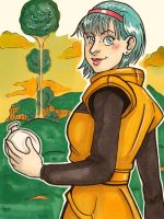 Bulma on Namek by lubyelfears