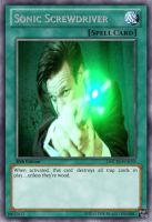 Sonic Screwdriver Yu-Gi-Oh Card by TheBlastoise