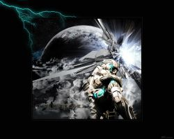out in space WP 1280x1024 by JuStiZoReD