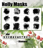 Holly Masks by Diamara